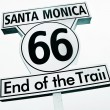 Santa Monica, 66, End of the Trail sign — Stock Photo #23511959