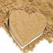 Sand heart - Stock fotografie