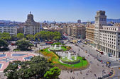 Placa Catalunya in Barcelona, Spain — Stock Photo
