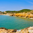 Home Mort Beach in Sitges, Spain — Foto Stock