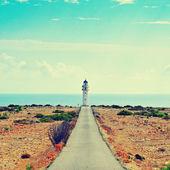 Daleko de barbaria v formentera, baleárské ostrovy, španělsko — Stock fotografie