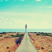 Far de Barbaria in Formentera, Balearic Islands, Spain — Stock fotografie