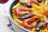 Spaanse paella — Stockfoto