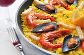 西班牙海鲜饭 — 图库照片