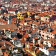 Stock Photo: Venice roofs, in Italy, with tilt shift lens effect
