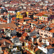 Venice roofs, in Italy, with tilt shift lens effect — Stock Photo