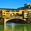 Ponte Vecchio in Florence, Italy - Stock Photo