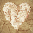 Old paper heart — Stock Photo #24846437