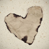 Old paper heart — Stock Photo