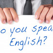Zdjęcie stockowe: Do you speak english?