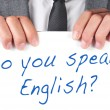 Foto Stock: Do you speak english?