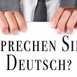 Sprechen sie deutsch? do you speak german? written in german — Stock Photo