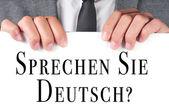 ¿sprechen sie deutsch? ¿habla alemán? escrito en alemán — Foto de Stock