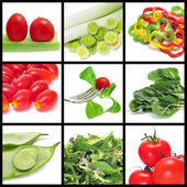 Zelenina koláž — Stock fotografie