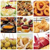Spanish tapas collage — Stock Photo