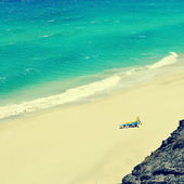 White sand beach in Fuerteventura, Canary Islands, Spain — Stock Photo