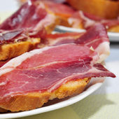 Serrano ham tapas — Stock Photo