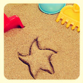 Playing in the sand — Stock Photo