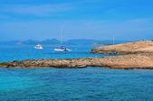 Ses Orense kust in formentera, Balearen, Spanje — Stockfoto