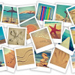 Summer on the beach collage — Stock Photo