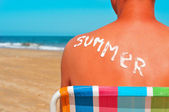Summer on the beach — Stock Photo