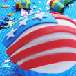 Cupcake decorated with the american flag — Stock Photo