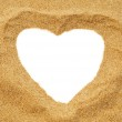 Heart in the sand — Stock Photo #26474951