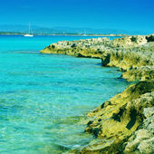 Ses Illetes in Formentera, Balearic Islands, Spain — Stock Photo