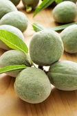Green almonds — Stock Photo