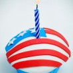 αμερικανική cupcake — Φωτογραφία Αρχείου