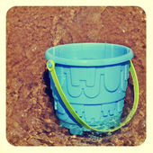 Beach pail in the sea — Stock Photo