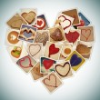 Stock Photo: Hearts collage
