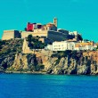 Ibiza Town, in Ibiza island, Balearic Islands, Spain — Stock Photo