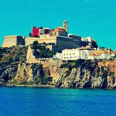 Ibiza Town, in Ibiza island, Balearic Islands, Spain — Stock Photo