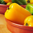 Sweet peppers of different colors — Stock Photo