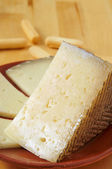 Manchego cheese from Spain — Stock Photo