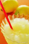 Spanish granizado de limon, a semi frozen dessert made with lemo — Stock Photo