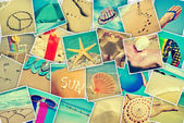 Pictures of different summer sceneries — Stock Photo