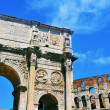Arch of Constantine and Coliseum in Rome, Italy — Stock Photo