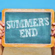 Stock Photo: Summers end