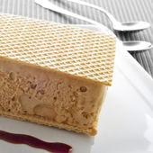 Corte al tipico spagnolo helado o corte de helado, crema sa di ghiaccio — Foto Stock