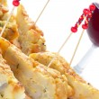 Stock Photo: Spanish pincho de tortilla, spanish omelete served on bread