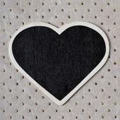 Heart-shaped blackboard — Stock Photo
