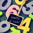 Vuelta al cole, back to school in spanish — Stock Photo