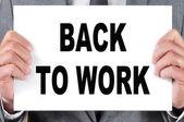 вернуться к работе — Стоковое фото
