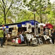 Place du Tertre in Paris, France — Stock Photo