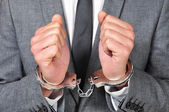 Handcuffed man — Stock Photo