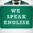 Stock Photo: We speak english