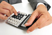 Businessman using a calculator — Stock Photo