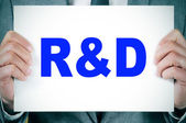 RnD, research and development — Stock Photo